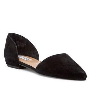 Steve Madden Shoes - Steve Madden Genius D'orsay Flat in Black Suede